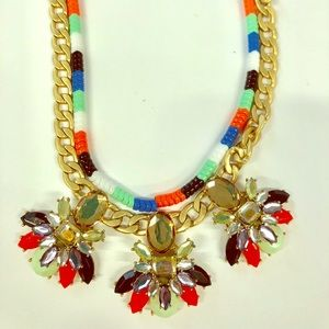J.crew multicolor statement necklace